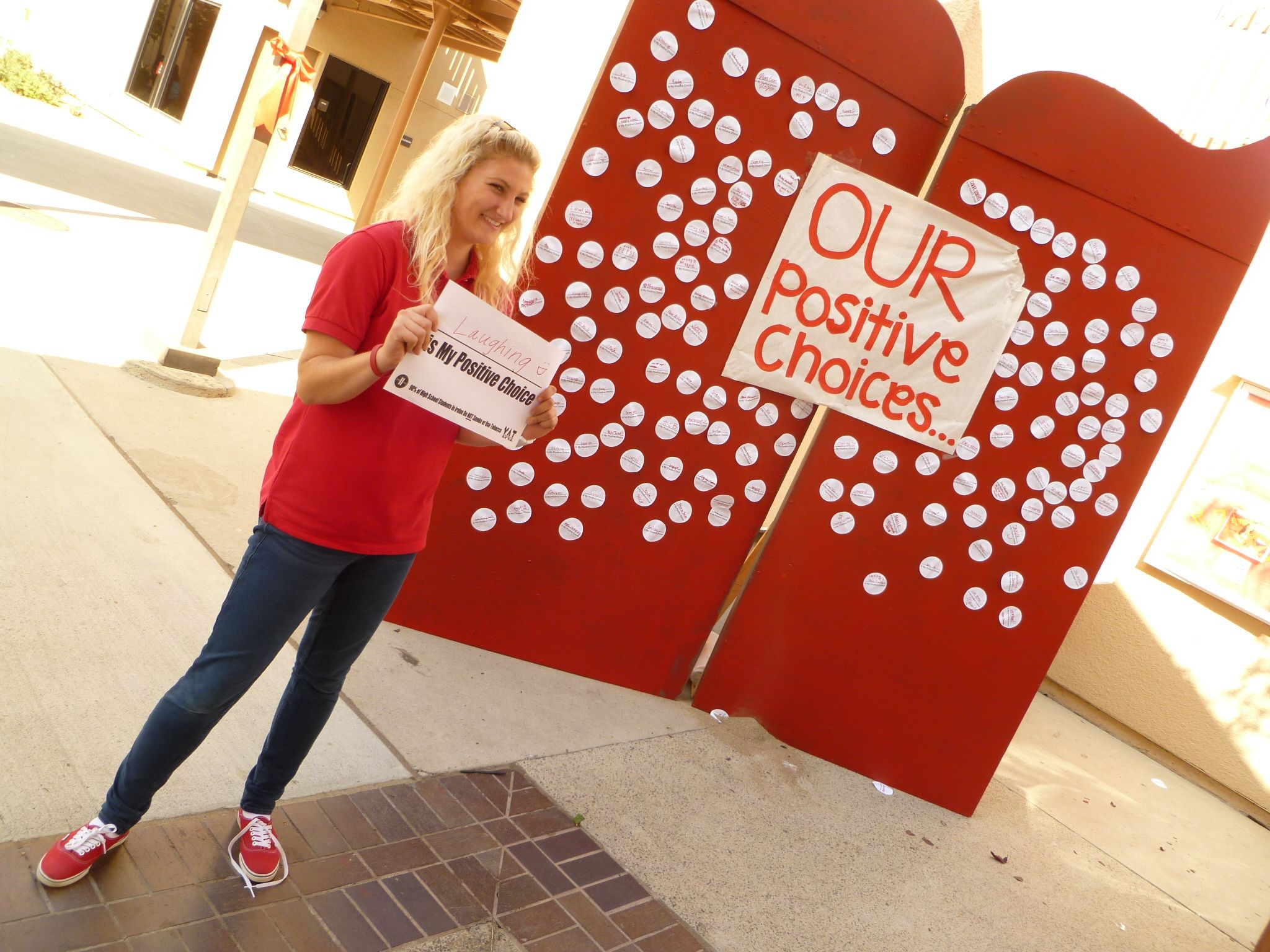 Students Shared Their Positive Choices During Red Ribbon
