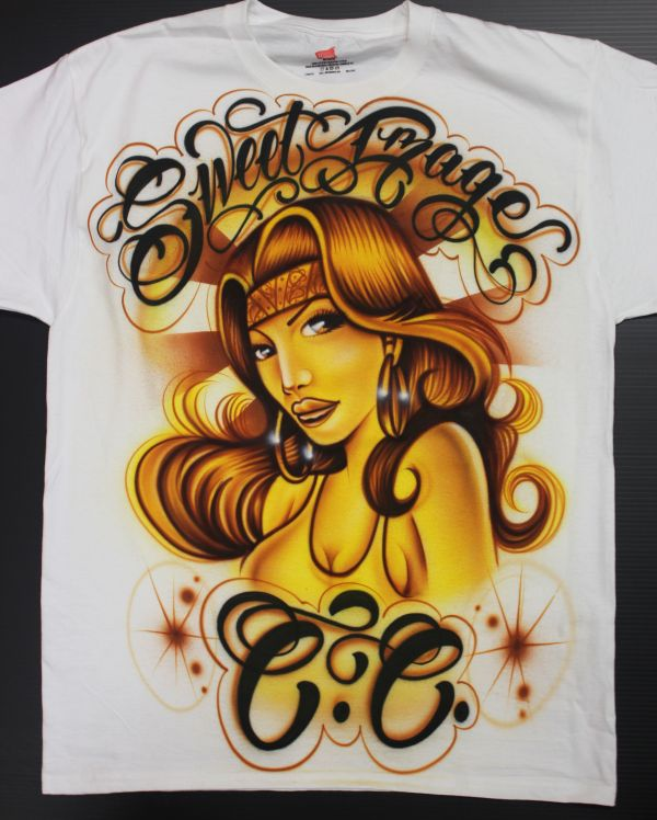 Airbrushed T-shirt Sweet Car Club