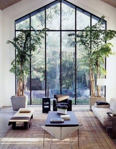 Modern high ceiling window design for living room decorating ideas also powell brower home wish list windows pinterest interiors rh in
