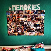 DiY rectangle photo collage w/ one word hashtag above | In ...
