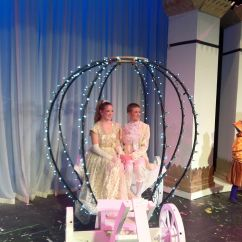 Disney Princess Chair High Back Wicker Cushions Cinderella Carriage ... By Craig Morgan. Lights With Tulle Added Later | Props! Pinterest