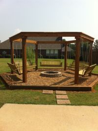 Fire Pit Swing | Outdoor fire pit with swings | Outdoor ...