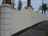 brick wall fence design ideas - Google Search | House ...