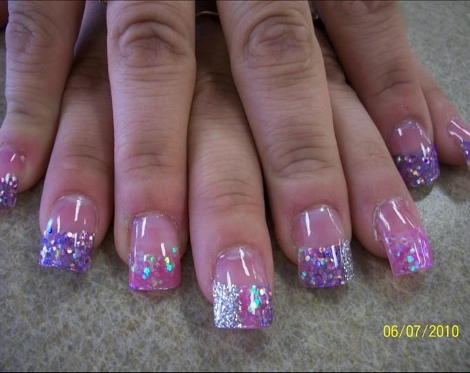pink tip nails designs on pinterest
