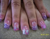 pink tip nails designs on pinterest