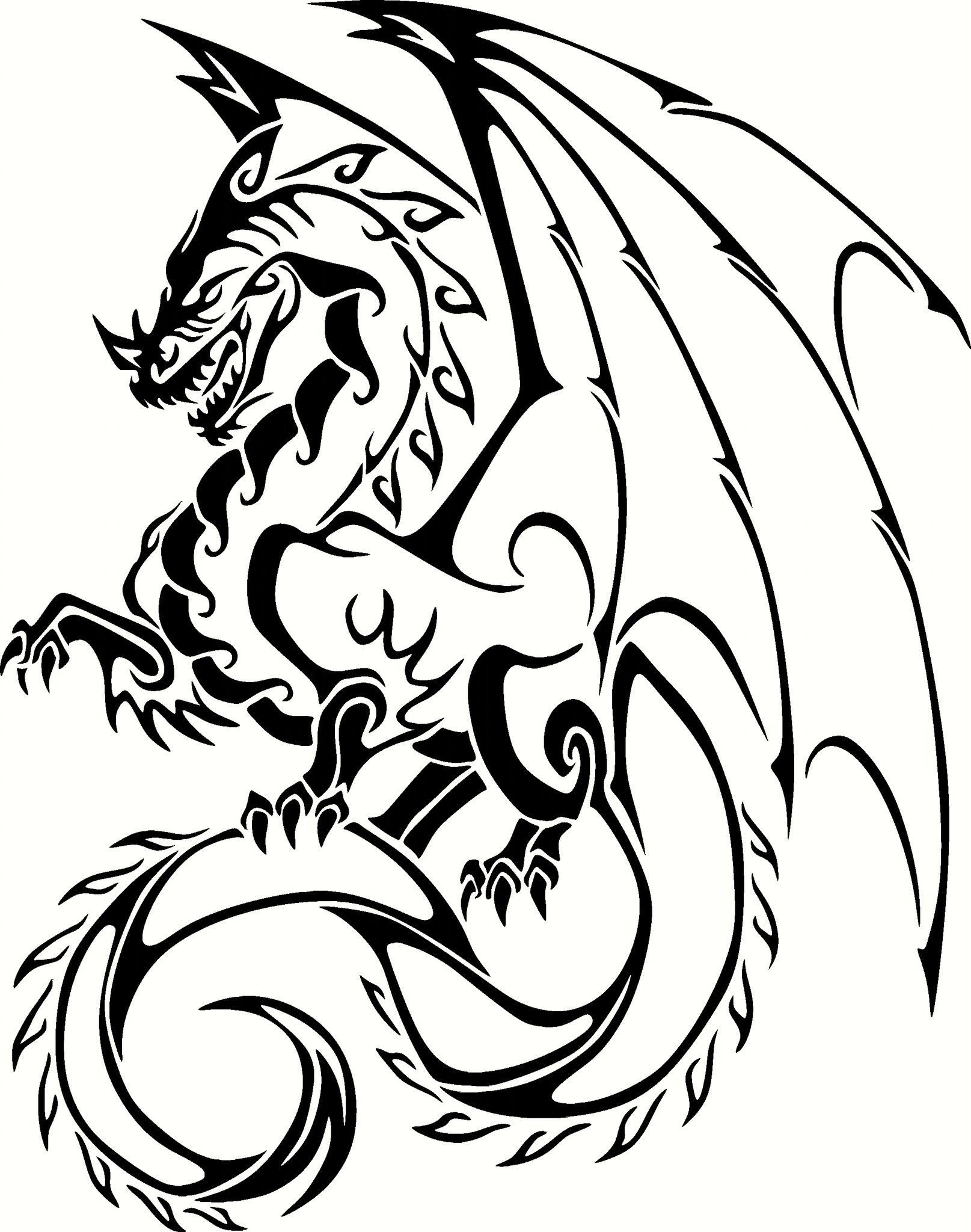 Dragon Vinyl Cut Out Decal Sticker