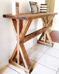 Rustic X-Entryway Table | Do It Yourself Home Projects ...