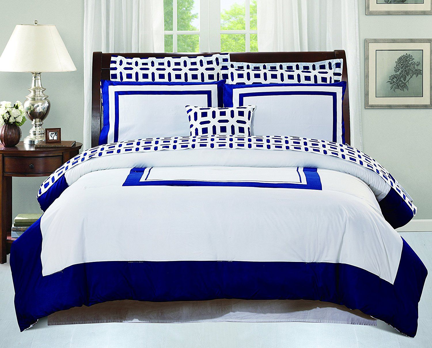 Amazon.com: Utopia Bedding Queen Bedroom Set, Blue (8