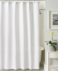 Hotel Collection Bath Accessories, Waffle Shower Curtain ...