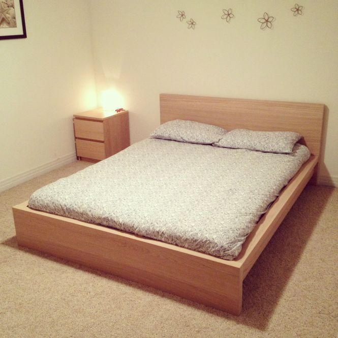 Ikea Malm Bed With Side Dresser