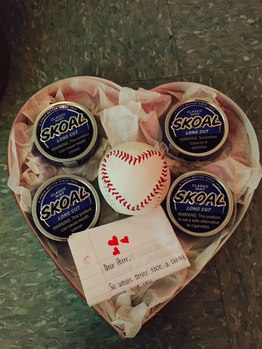 Valentine's Day T For Him Baseball Girlfriend