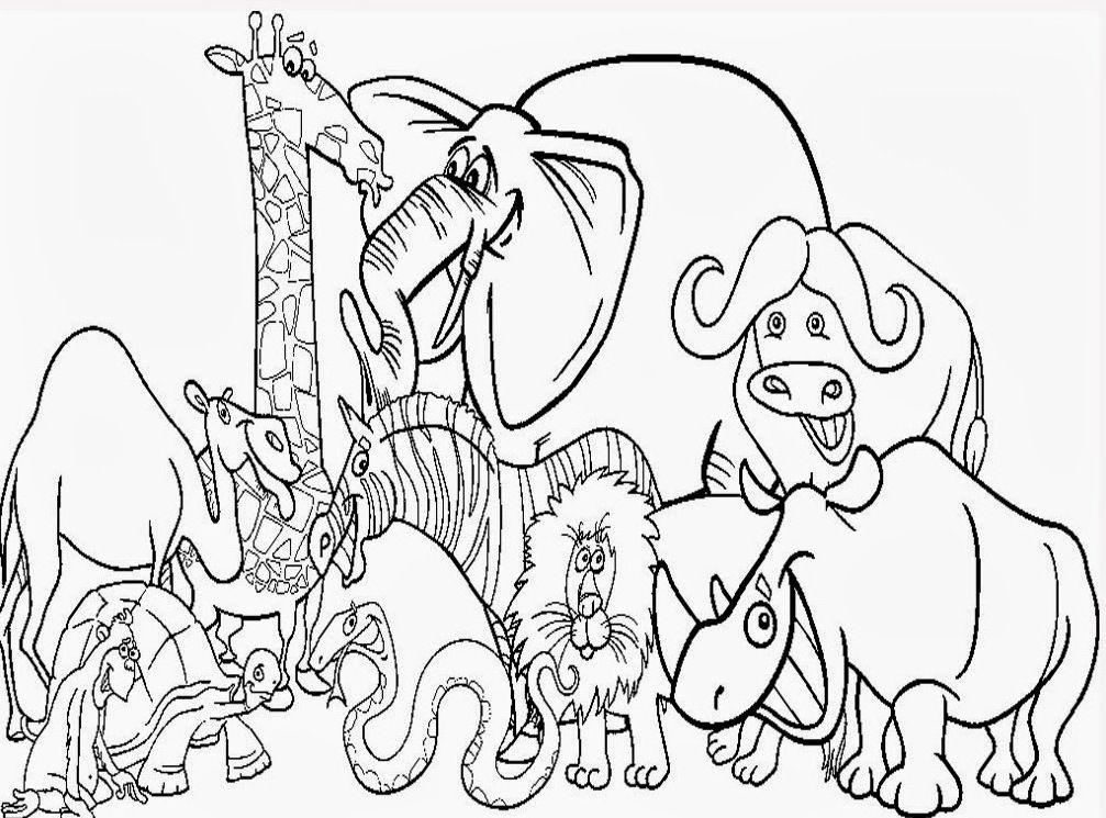 Cute Zoo Animal Coloring Pages :Kids Coloring Pages
