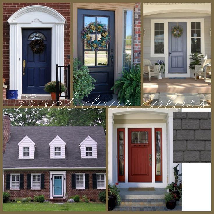 Red Brick House Door Colors Red Brick House Black Shutters But