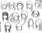 anime girl hairstyles - hair