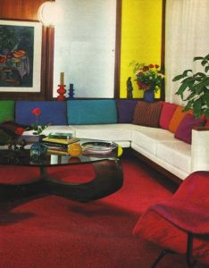 Primary color decorating in the early good housekeeping october also colorful interiors and mid century rh pinterest