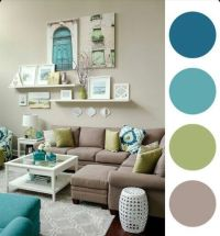 Beatiful blue, Green and taupe living room | Casa ...