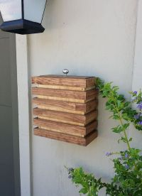 Case Modern Mailbox - Wall Mounted, Wood, Contemporary ...