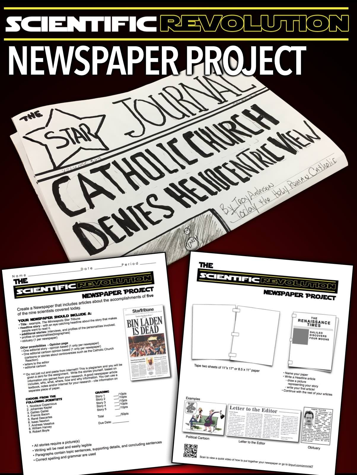 Scientific Revolution Newspaper Project