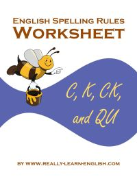 English Spelling Rules and Printable Worksheets for the /K ...