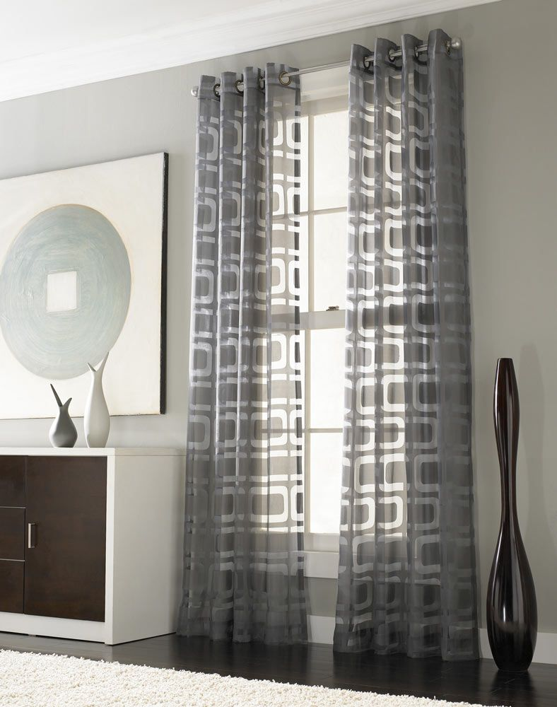 Modern curtain panels for living room - If We Add Curtains To Any Windows Othello Modern Geometric