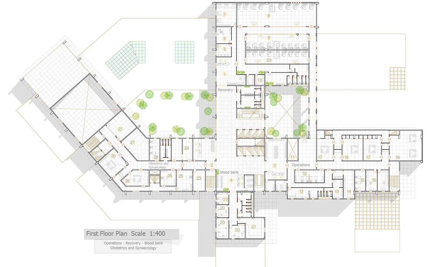 General Hospital First Floor Plan