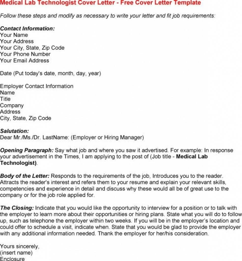Nuclear Technician Cover Letter Cover Letter Sample For Medical Lab Technician Andrian James Blog