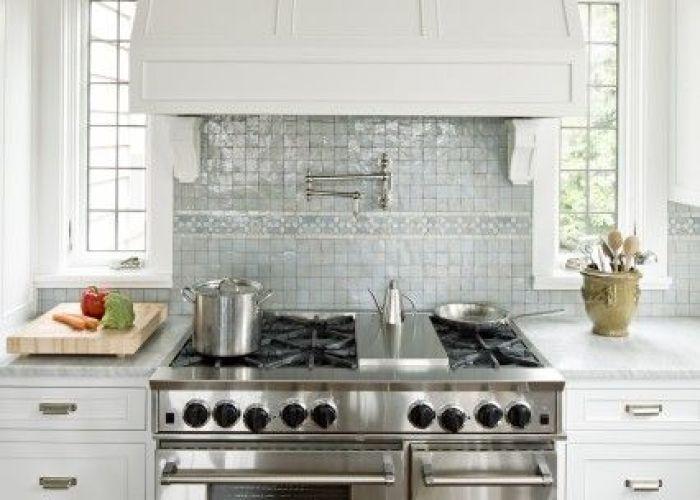 Jenny baines kitchens ann sacks tile miniature blue glass tiles backsplash white shaker kitchen cabinets carrara marble count  also