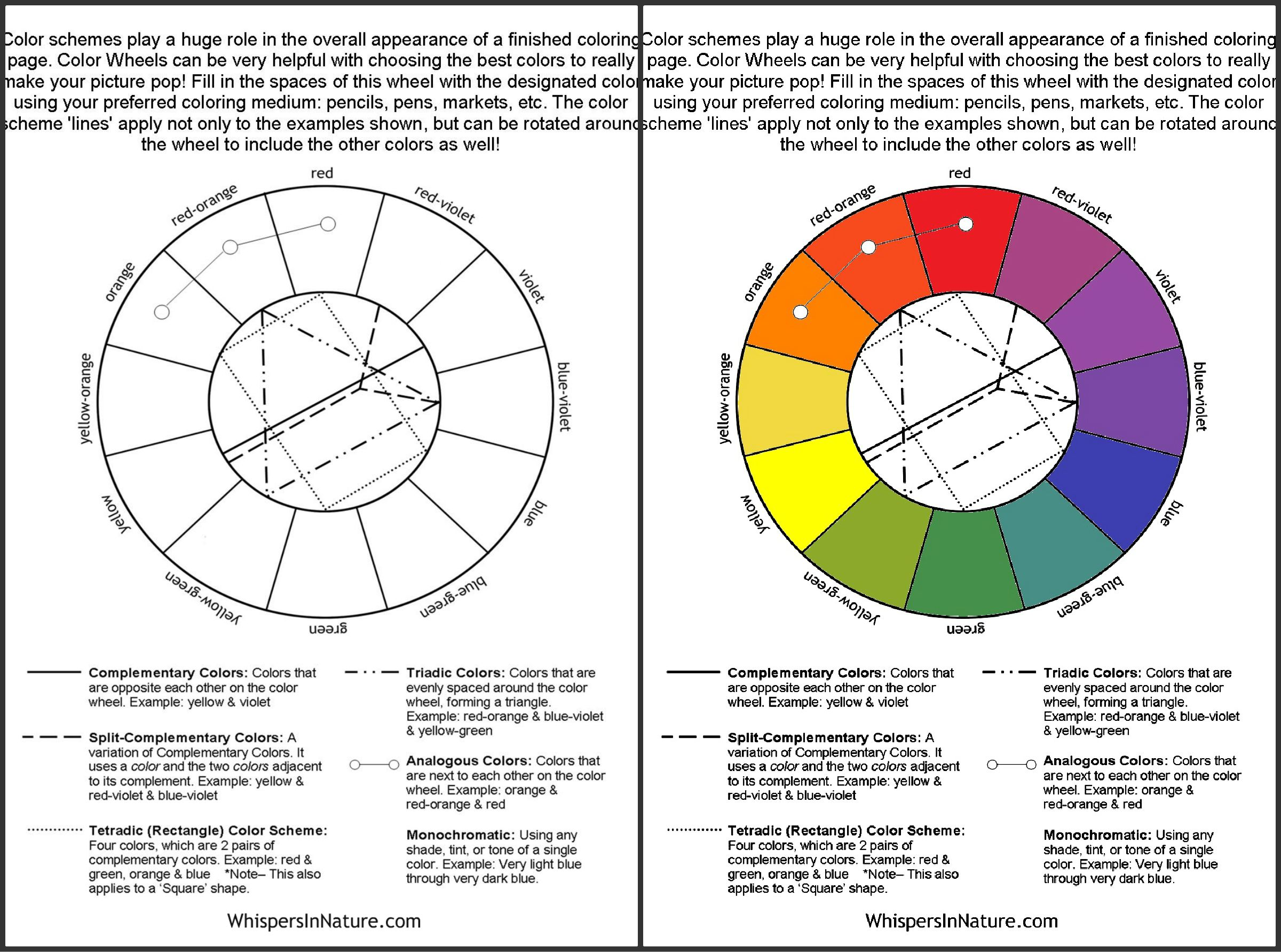 Free Coloring Page Color Wheel