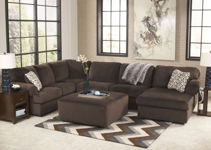 Camden large modern chocolate microfiber living room sofa couch sectional set also fanmis luxury iced out pave floating crystal quartz calendar rose