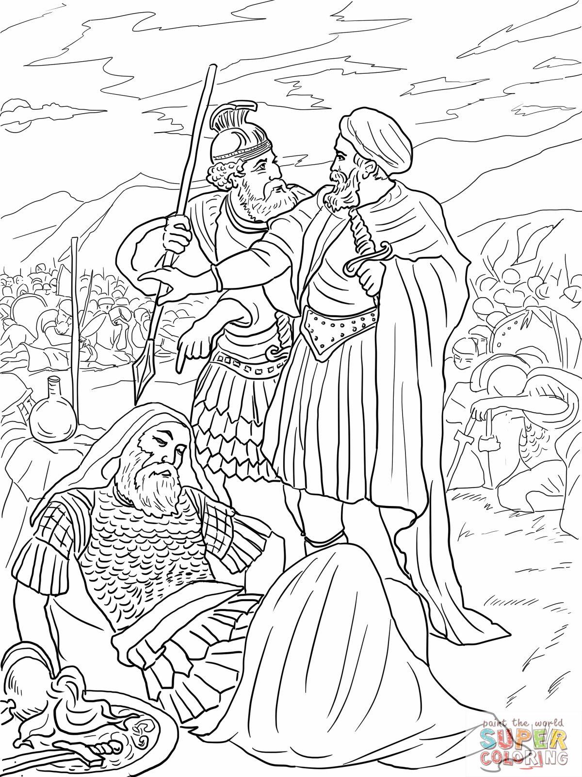 4-david-spares-king-saul-coloring-page.jpg (1200×1600