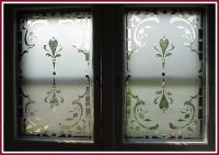 etched double window done using Egress Etch glass etching ...