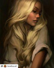 blonde girl tsvetka.art art