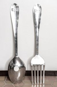 big spoon and fork wall decor