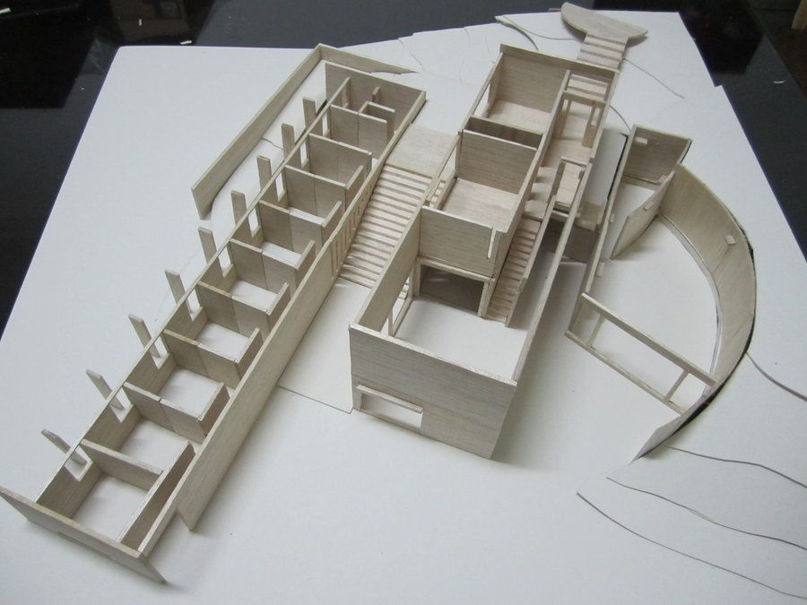 Koshino House Maquette 2 by LzCassiopeia on deviantART