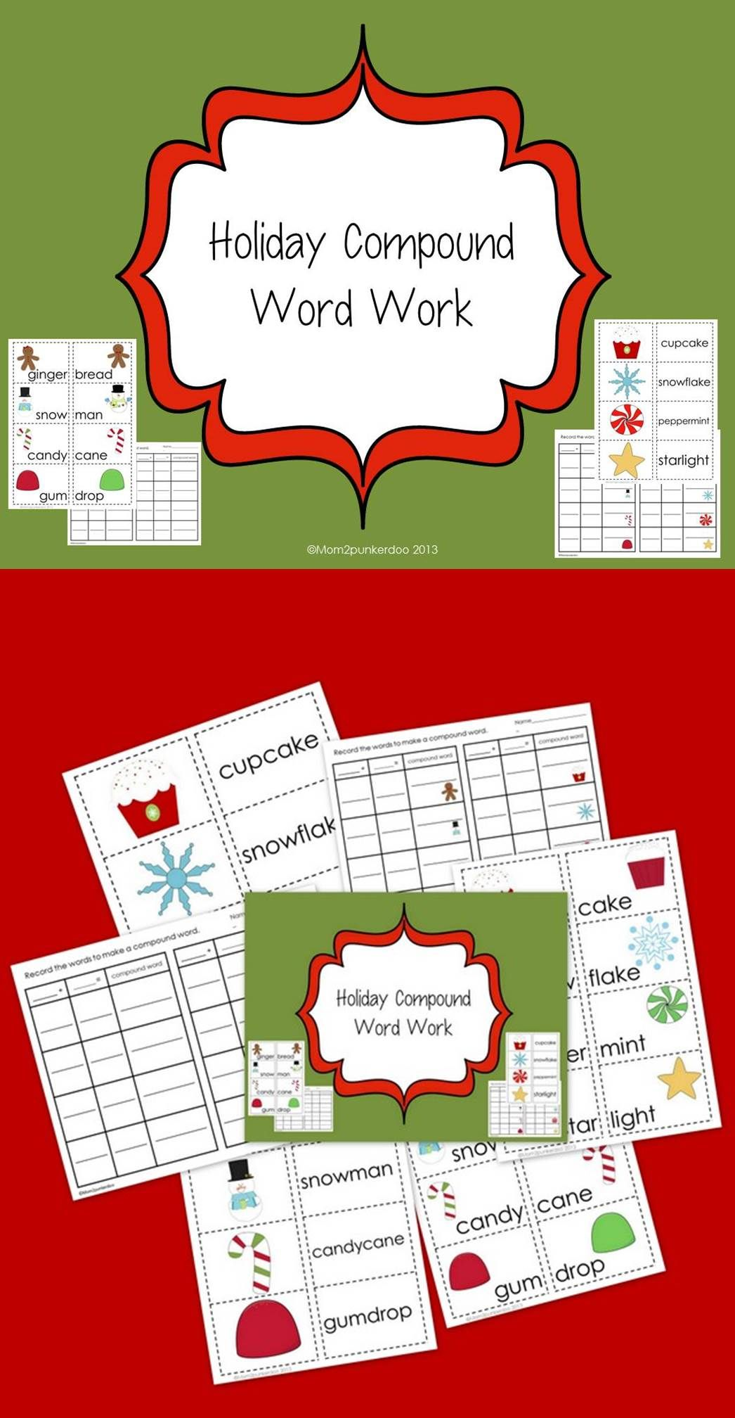 Free Practice Compound Words With These Holiday Themed