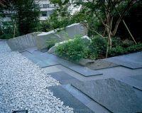 garden paving  contemporary japanese style garden with ...