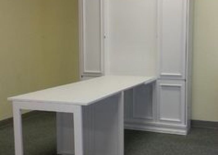Folding desk added to the front of murphy beds also bed craft room google search furniture  storage ideas