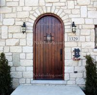 What a lovely Rustic Castle Door. This Round Top Exterior ...