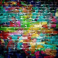 Colorful Brick Wall | Street Art | Pinterest | Drawings ...