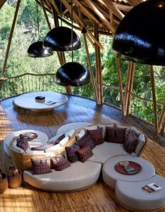 Sustainable bamboo tree house in bali this home also features  library spa best images about cool ideas on pinterest outdoor beds lost and rh