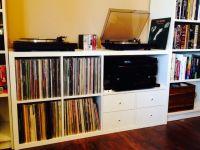 Ikea Kallax/Expedit Turntable & Audio storage hacks | Ikea ...