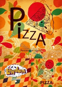 Pizza menu design vector vintage | Idee per locali ...