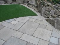 Indian Sandstone Paving - Tumbled - Raj Green - Patio Pack ...