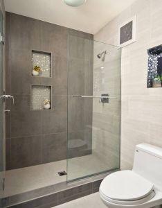 Modern walk in showers small bathroom designs with shower also rh pinterest