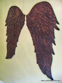 wood angel wings wall art dark angel | Wood things to make ...