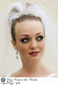 Bridal Hairstyle With Tiara And Veil