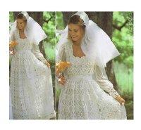 Crochet WEDDING DRESS PATTERN Vintage 70s and Crochet