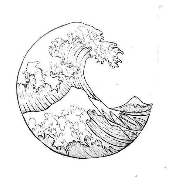 Waterproof Temporary Fake Tattoo Stickers Cool Ocean Wave