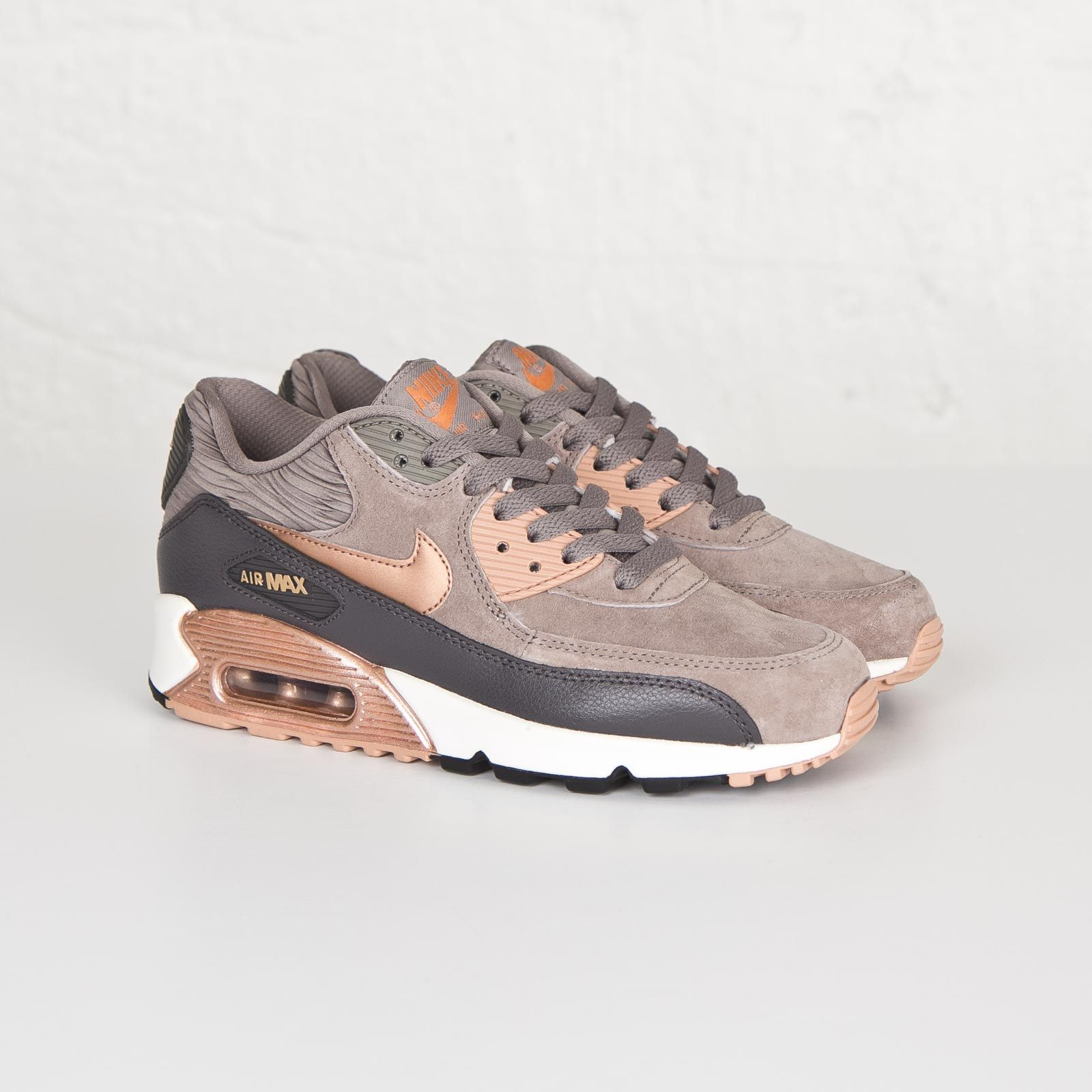 50% price for whole family best selling Rotes Shoes | Damen Nike Air Max 90 Leather Iron/rote Bronze ...