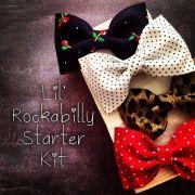 rockabilly baby girl fabric hair